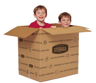 Kids playing in a box