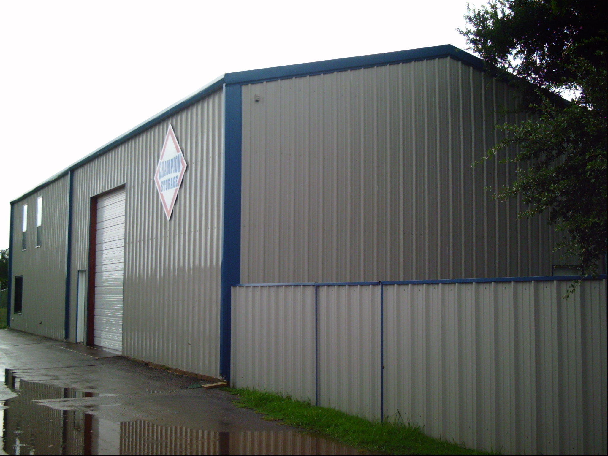 Rear of Champion  Storage building
