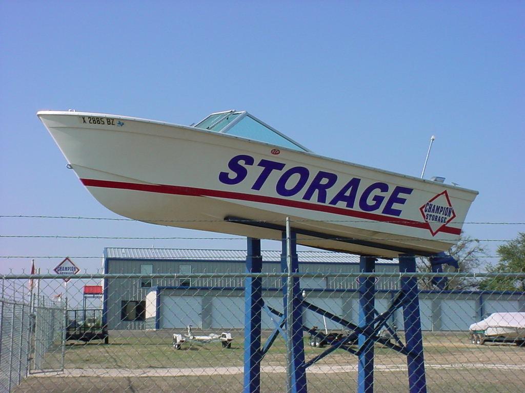 Boat Storage Signage : About champion storage